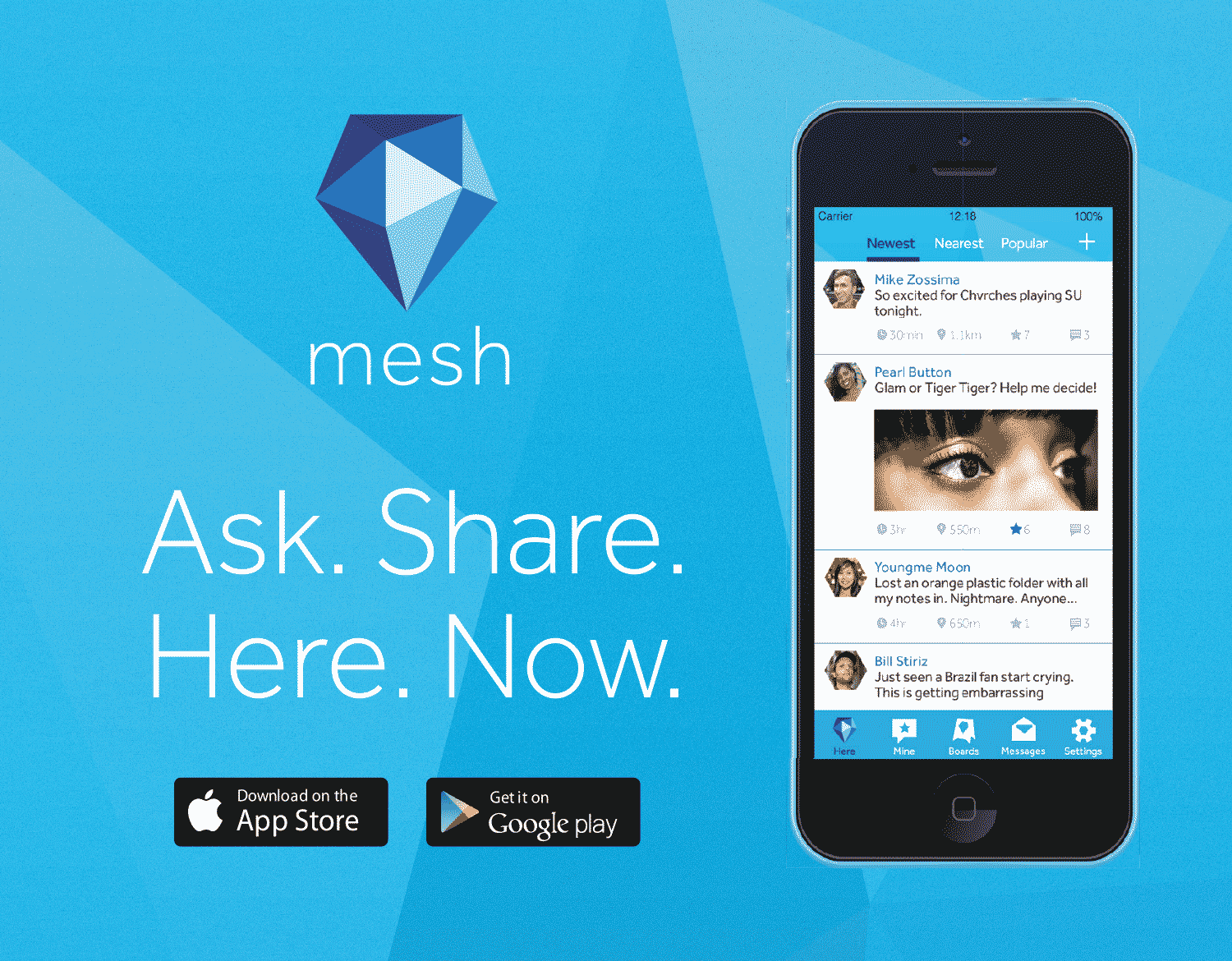 Mesh - Ask. Share. Here. Now